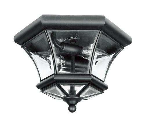 LIVEX Lighting 7052-04 Monterey Georgetown Flushmount in Black (2 Light)