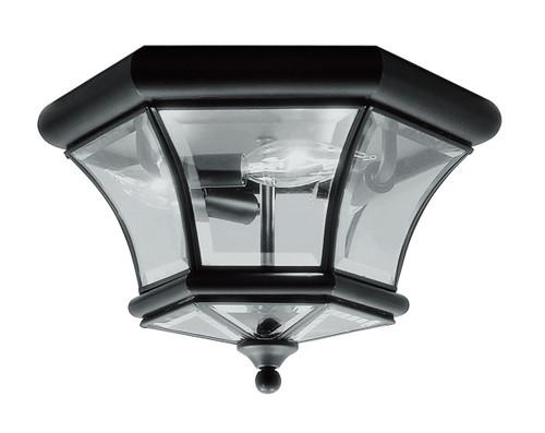 LIVEX Lighting 7053-04 Monterey Georgetown Flushmount in Black (3 Light)