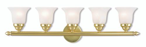 LIVEX Lighting 1065-02 Neptune Bath Vanity in Polished Brass (5 Light)