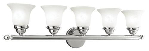 LIVEX Lighting 1065-05 Neptune Bath Light in Polished Chrome (5 Light)