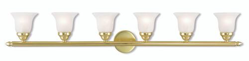 LIVEX Lighting 1066-02 Neptune Bath Vanity in Polished Brass (6 Light)
