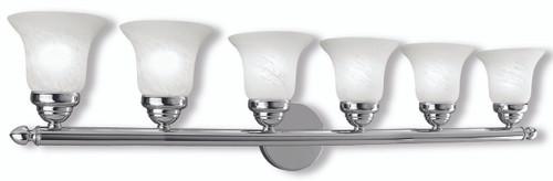 LIVEX Lighting 1066-05 Neptune Bath Light in Polished Chrome (6 Light)