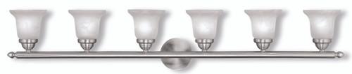 LIVEX Lighting 1066-91 Neptune Bath Light in Brushed Nickel (6 Light)