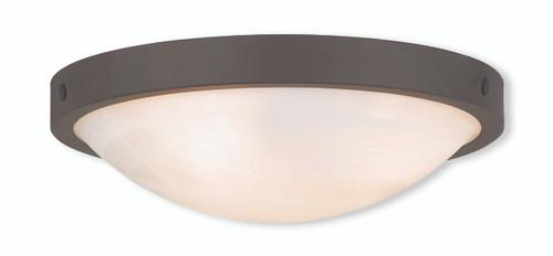 LIVEX Lighting 73952-07 New Brighton Contemporary Flushmount in Bronze (3 Light)