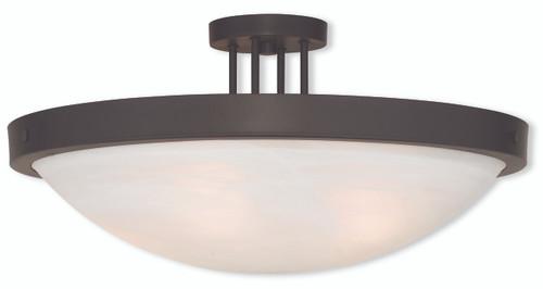 LIVEX Lighting 73958-07 New Brighton Contemporary Flushmount in Bronze (5 Light)