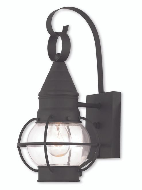 LIVEX Lighting 26900-04 Newburyport Wall Lantern in Black (1 Light)