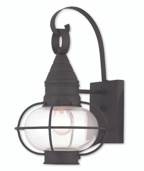LIVEX Lighting 26901-04 Newburyport Wall Lantern in Black (1 Light)