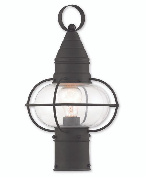 LIVEX Lighting 26902-04 Newburyport Post Lantern in Black (1 Light)