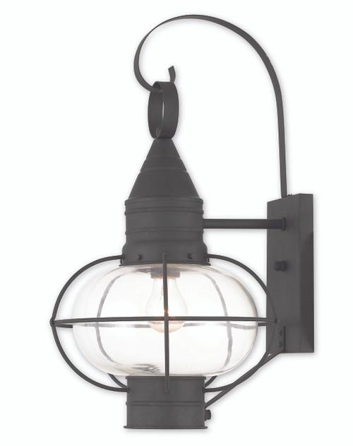 LIVEX Lighting 26904-04 Newburyport Wall Lantern in Black (1 Light)
