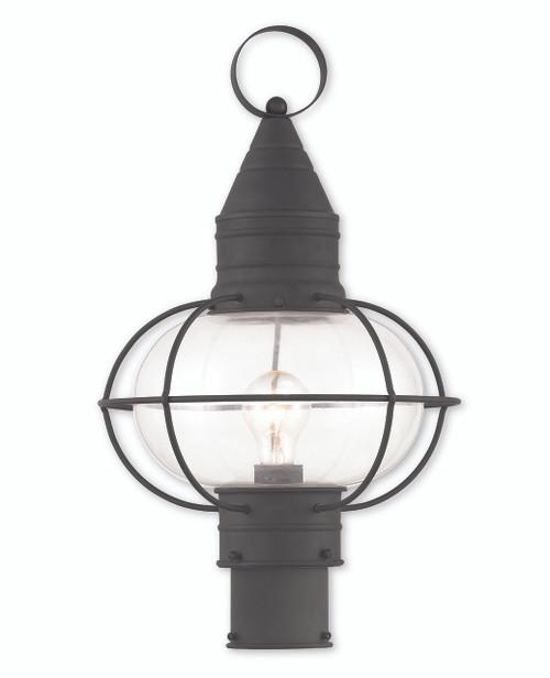 LIVEX Lighting 26905-04 Newburyport Post Lantern in Black (1 Light)
