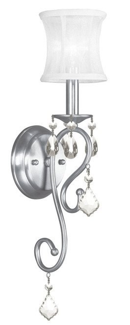 LIVEX Lighting 6301-91 Newcastle Wall Sconce in Brushed Nickel (1 Light)