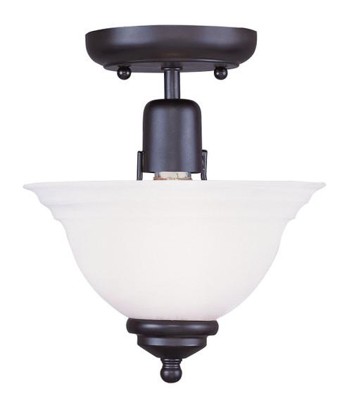 LIVEX Lighting 4250-04 North Port Flushmount in Black (1 Light)