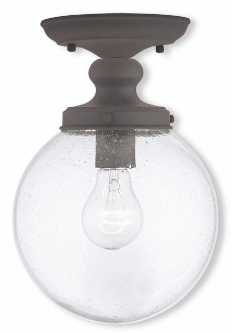 LIVEX Lighting 50911-07 Northampton Flushmount in Bronze (1 Light)