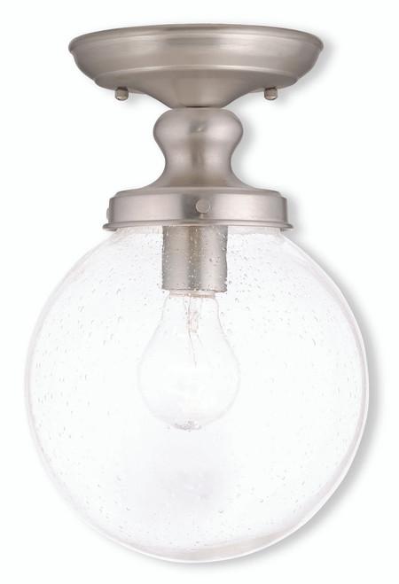 LIVEX Lighting 50911-91 Northampton Flushmount in Brushed Nickel (1 Light)