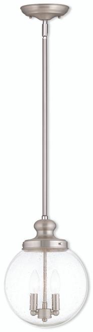 LIVEX Lighting 50914-91 Northampton Pendant in Brushed Nickel (2 Light)