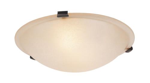 LIVEX Lighting 5623-07 Oasis Contemporary Flushmount in Bronze (3 Light)