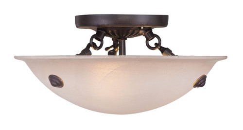 LIVEX Lighting 5624-07 Oasis Contemporary Flushmount in Bronze (3 Light)