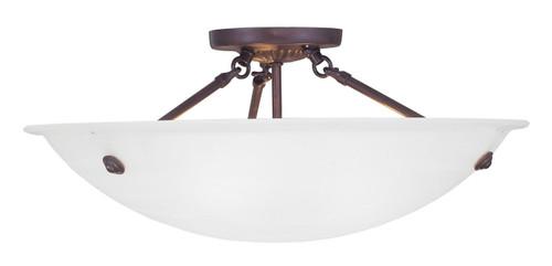 LIVEX Lighting 4274-07 Oasis Contemporary Flushmount in Bronze (3 Light)