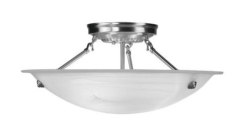 LIVEX Lighting 4274-91 Oasis Contemporary Flushmount in Brushed Nickel (3 Light)