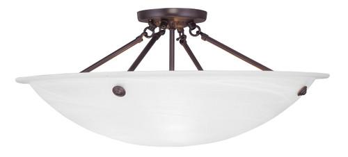 LIVEX Lighting 4275-07 Oasis Contemporary Flushmount in Bronze (4 Light)