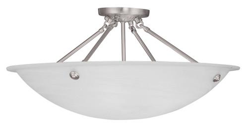 LIVEX Lighting 4275-91 Oasis Contemporary Flushmount in Brushed Nickel (4 Light)