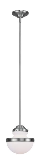 LIVEX Lighting 5724-91 Oldwick Pendant in Brushed Nickel (1 Light)