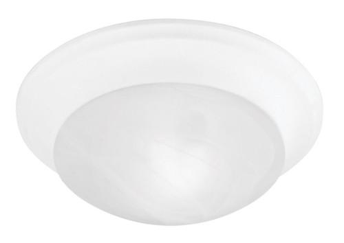 LIVEX Lighting 7302-03 Omega Flushmount in White (1 Light)