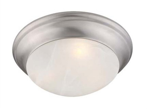 LIVEX Lighting 7302-91 Omega Flushmount in Brushed Nickel (1 Light)