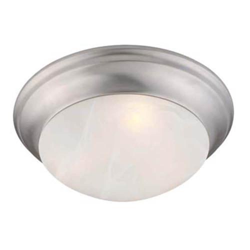 LIVEX Lighting 7303-91 Omega Flushmount in Brushed Nickel (2 Light)