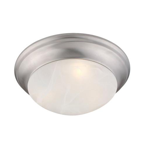 LIVEX Lighting 7304-91 Omega Flushmount in Brushed Nickel (3 Light)