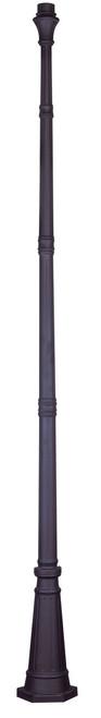 LIVEX Lighting 7617-07 Outdoor Cast Aluminum Fluted Post in Bronze