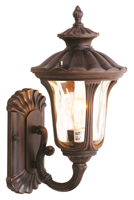 LIVEX Lighting 7650-58 Oxford Outdoor Wall Lantern in Imperial Bronze (1 Light)