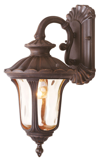 LIVEX Lighting 7651-58 Oxford Outdoor Wall Lantern in Imperial Bronze (1 Light)