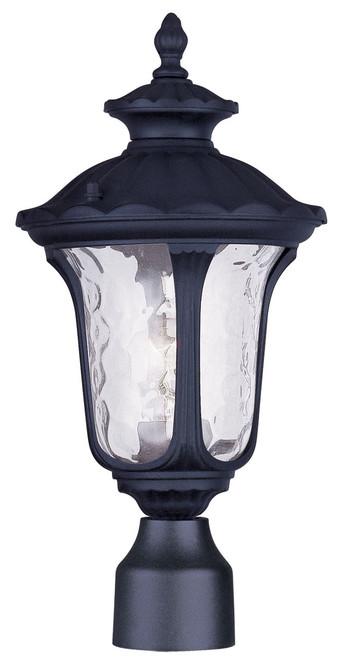 LIVEX Lighting 7848-04 Oxford Outdoor Post Lantern in Black (1 Light)
