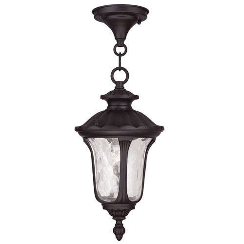 LIVEX Lighting 7849-07 Oxford Chain Lantern in Bronze (1 Light)