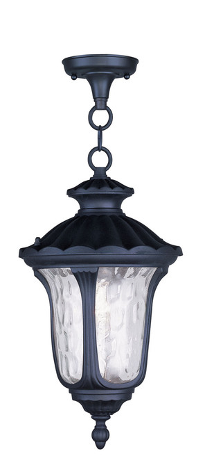 LIVEX Lighting 7854-04 Oxford Chain Lantern in Black (1 Light)