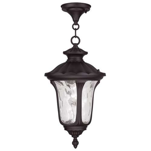 LIVEX Lighting 7854-07 Oxford Chain Lantern in Bronze (1 Light)