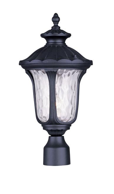 LIVEX Lighting 7855-04 Oxford Outdoor Post Lantern in Black (1 Light)