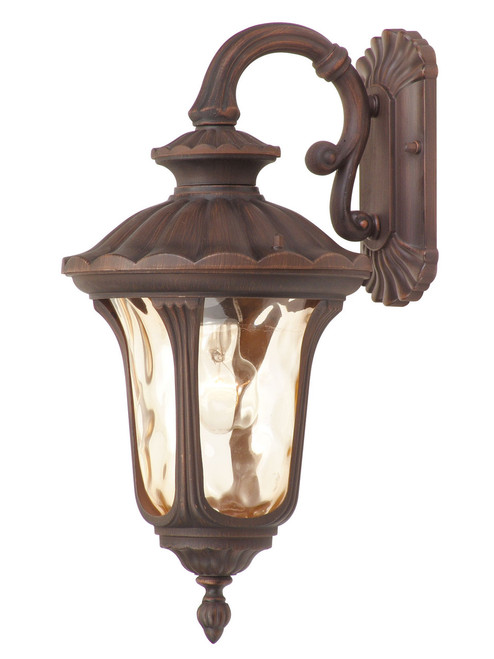 LIVEX Lighting 7653-58 Oxford Outdoor Wall Lantern in Imperial Bronze (1 Light)