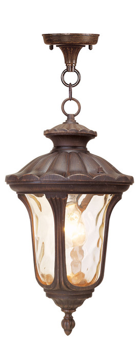 LIVEX Lighting 7654-58 Oxford Chain Lantern in Imperial Bronze (1 Light)