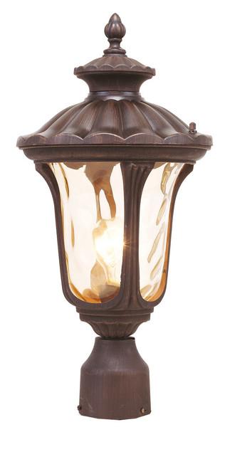 LIVEX Lighting 7655-58 Oxford Outdoor Post Lantern in Imperial Bronze (1 Light)
