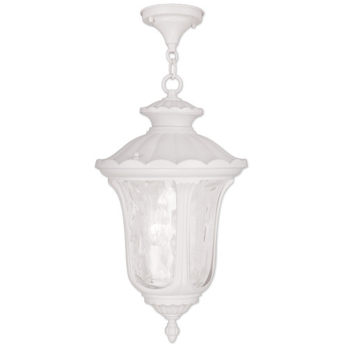 LIVEX Lighting 7858-03 Oxford Chain Lantern in White (3 Light)