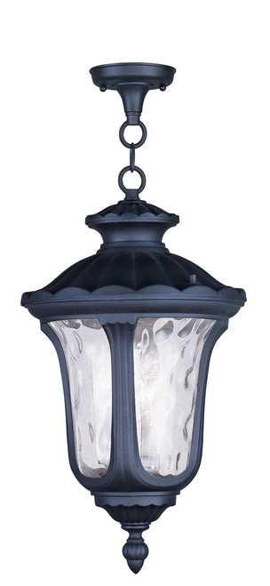 LIVEX Lighting 7858-04 Oxford Chain Lantern in Black (3 Light)