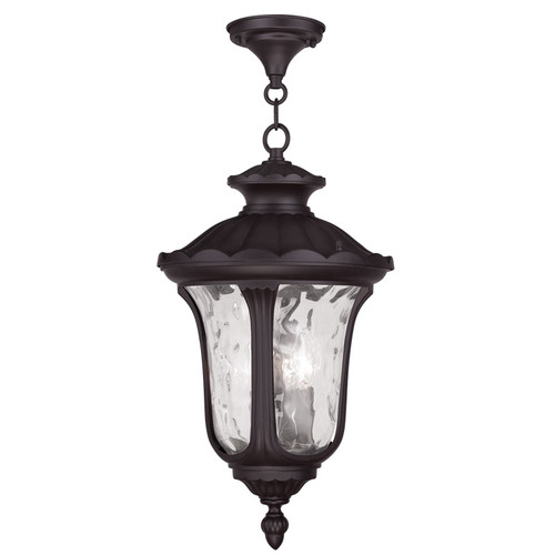 LIVEX Lighting 7858-07 Oxford Chain Lantern in Bronze (3 Light)