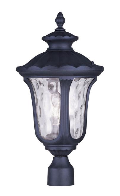 LIVEX Lighting 7859-04 Oxford Outdoor Post Lantern in Black (3 Light)