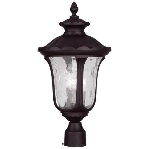 LIVEX Lighting 7859-07 Oxford Outdoor Post Lantern in Bronze (3 Light)