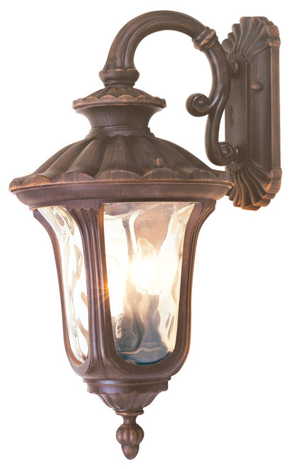LIVEX Lighting 7657-58 Oxford Outdoor Wall Lantern in Imperial Bronze (3 Light)