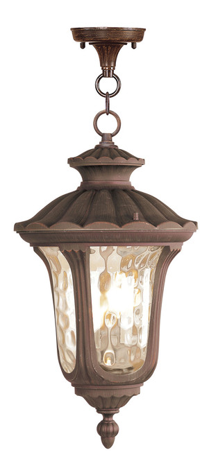LIVEX Lighting 7658-58 Oxford Chain Lantern in Imperial Bronze (3 Light)