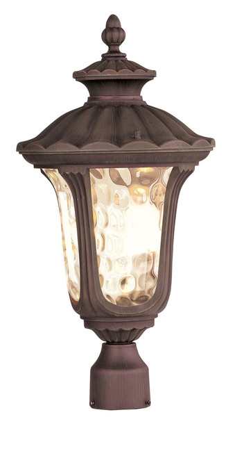 LIVEX Lighting 7659-58 Oxford Outdoor Post Lantern in Imperial Bronze (3 Light)