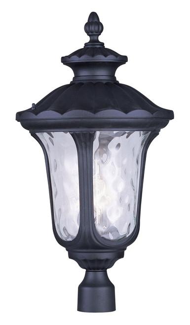 LIVEX Lighting 7864-04 Oxford Outdoor Post Lantern in Black (3 Light)